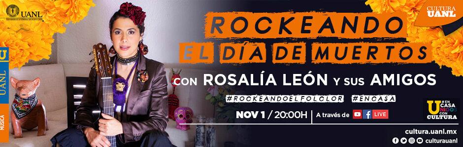 Rosalia Rockeando el día de Muertos